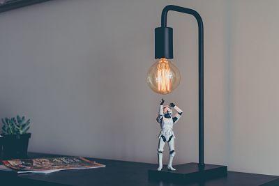 Stormtrooper model on desk