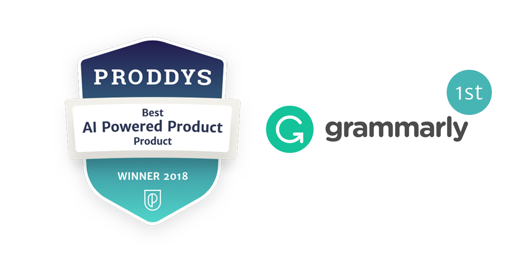 Proddy first prize badge for AI powered Product