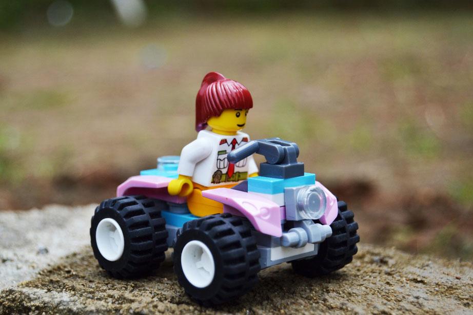 LEGO ATV driver