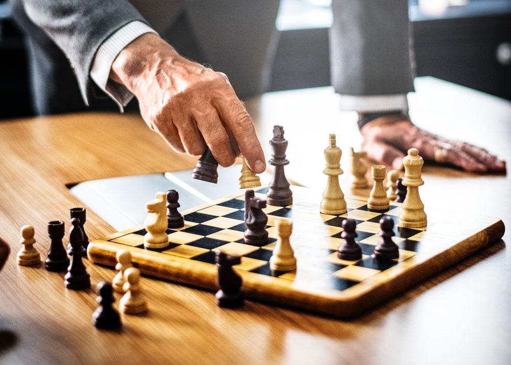 Man playing chess.