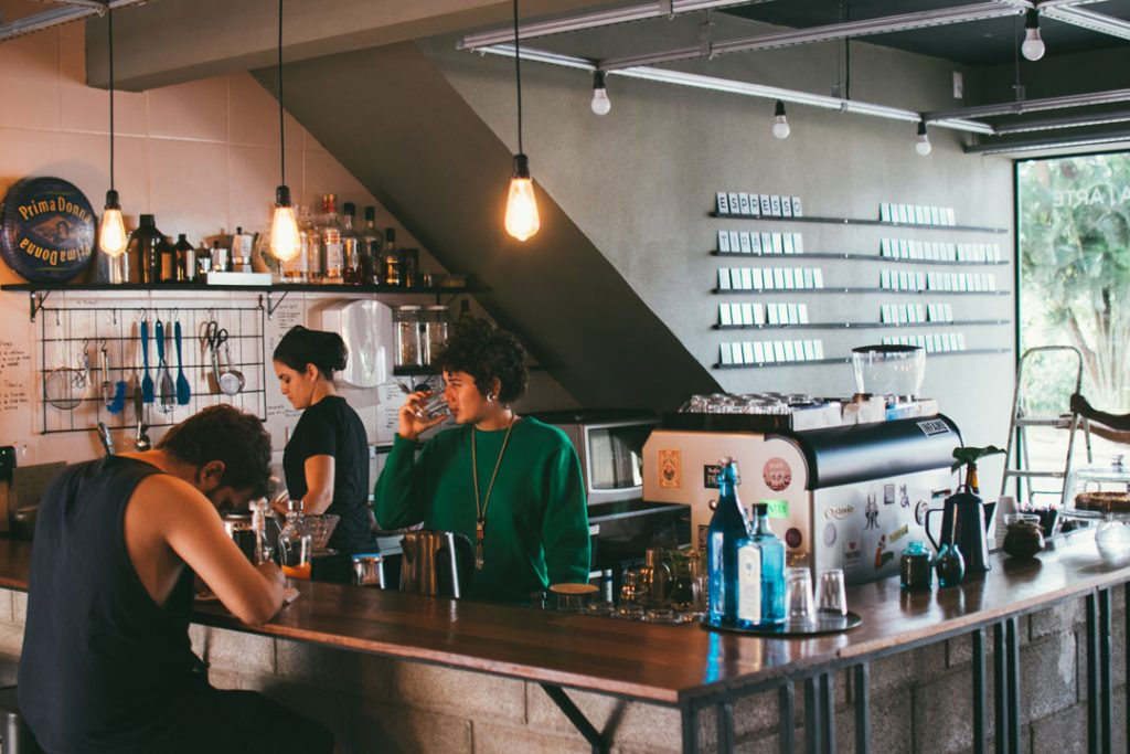 café with people