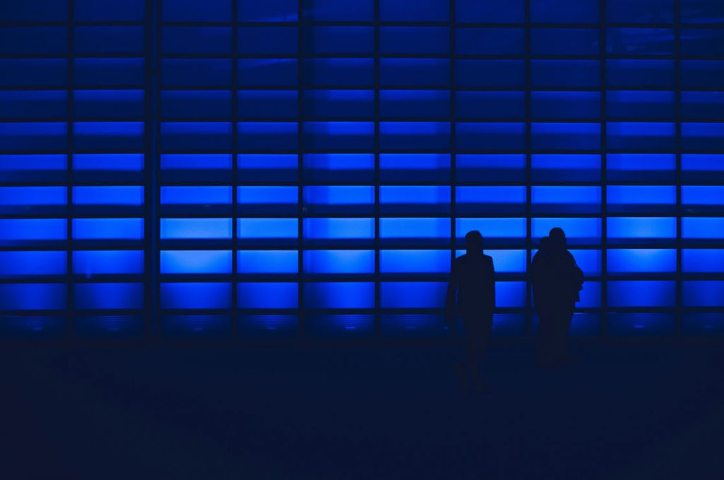 blue light people