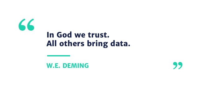 quote data by w.e. deming