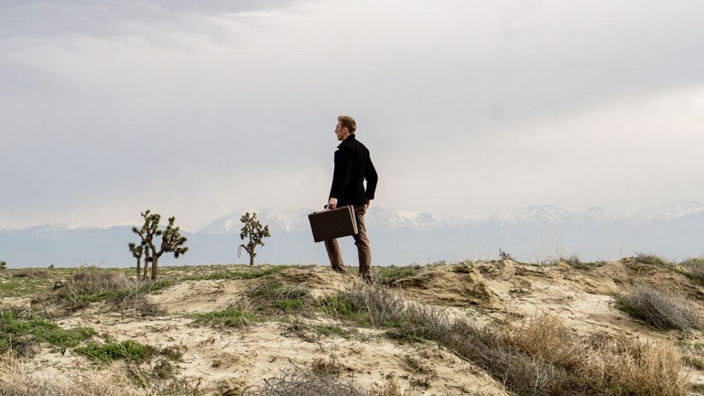 businessman in the desert