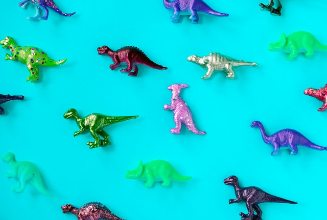image of colorful dinosaurs