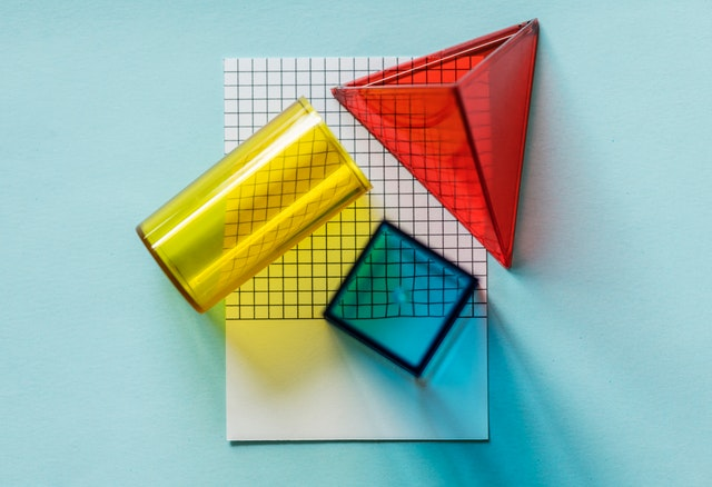 colorful shapes on a paper