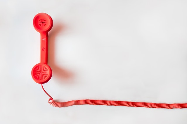 red phone with cable