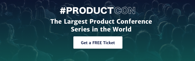 ProductCon banner - free ticket call to action