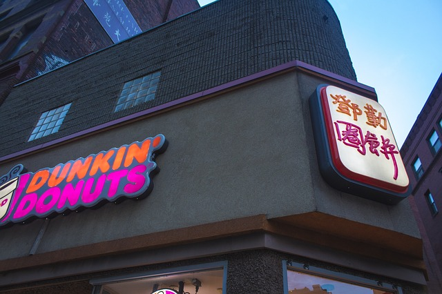 dunkin donuts shop in an asian country