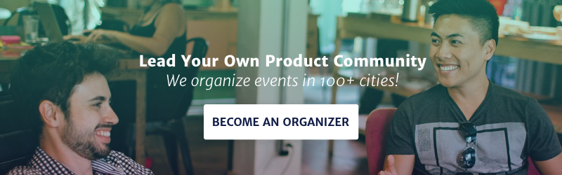 Product School banner become an organizer community
