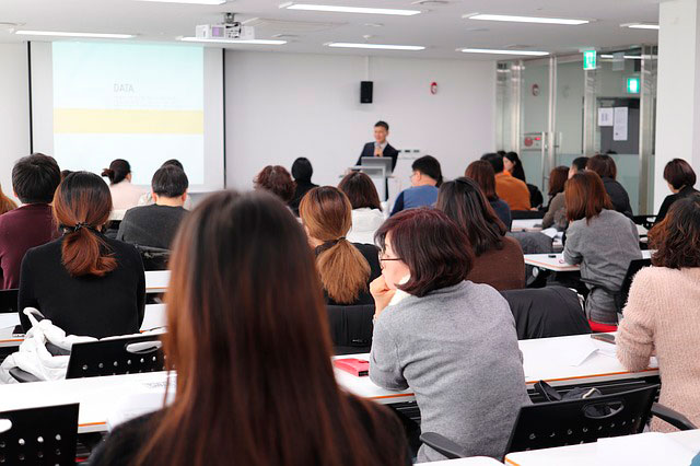 lecture room during a class