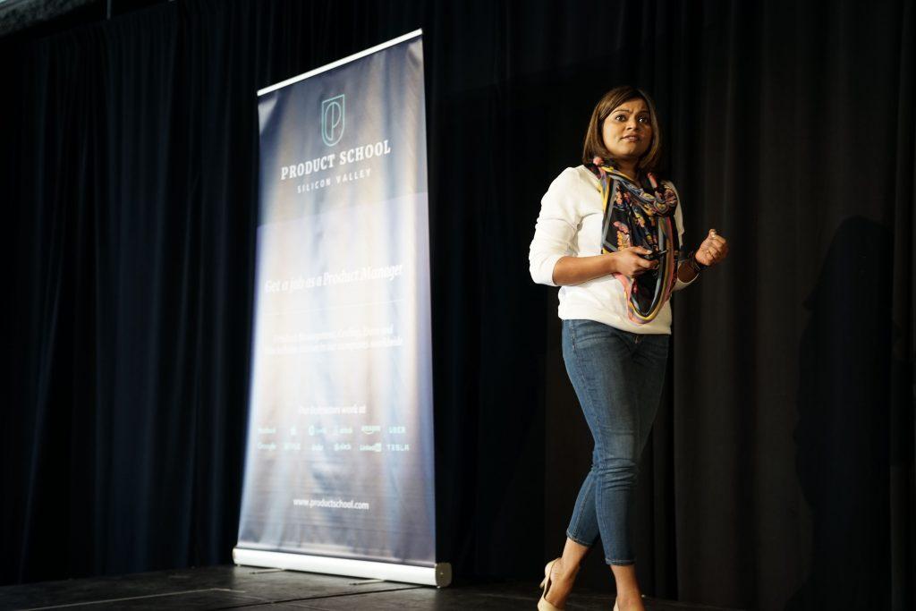 Pooja Ghera talking at ProductCon