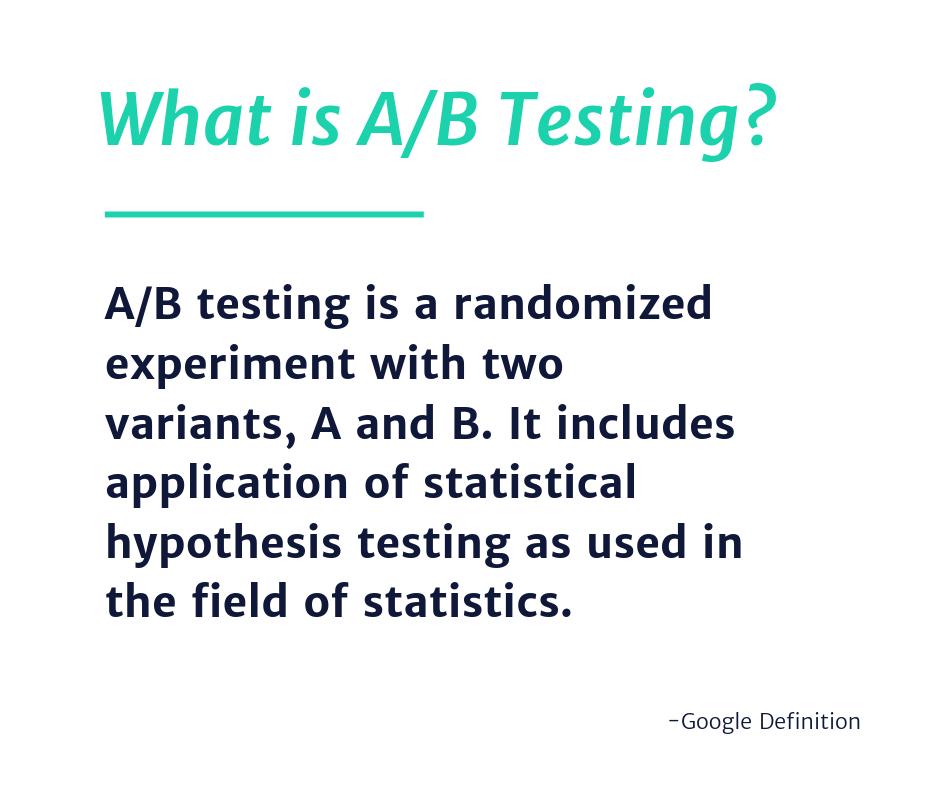 Definition of A/B Testing