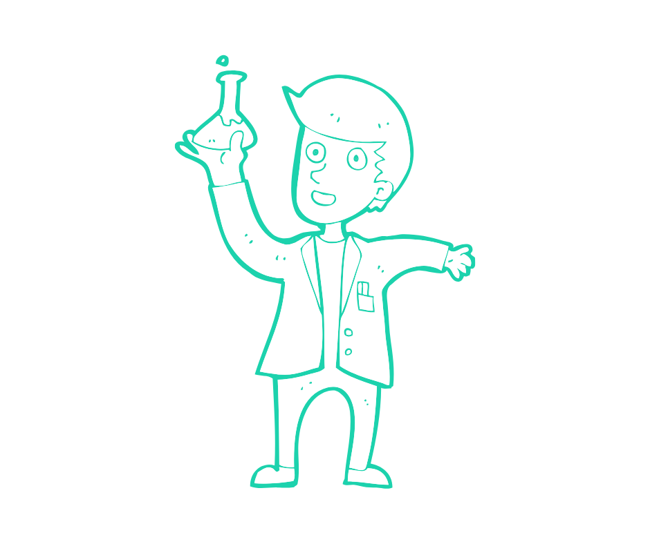 Graphic of a scientist