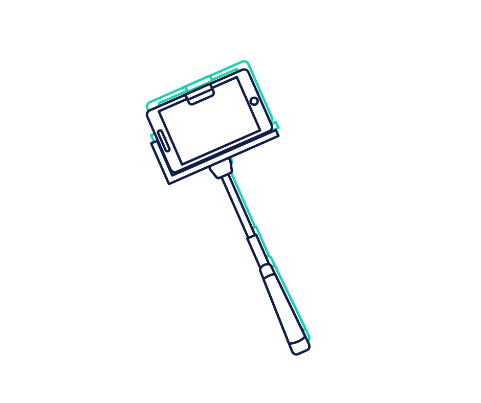 Selfie stick graphic