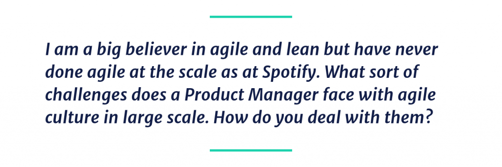 How do you deal with agile at scale