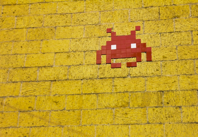 Alien game space invaders