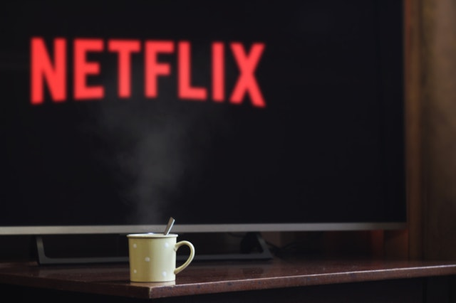 Netflix background on a screen