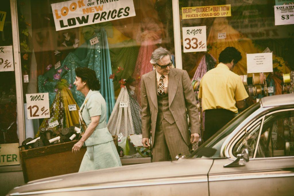 Shoppers in a highstreet