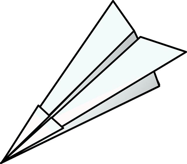 Paper plane graphic