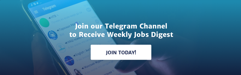 Join our Telegram channel to receive weekly jobs digest