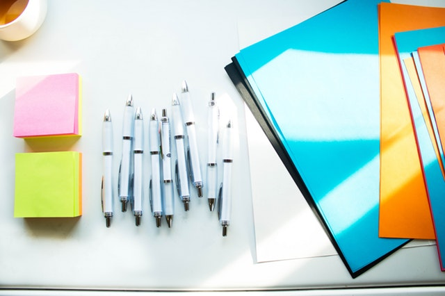 Product manager tools, pens, and sticky notes