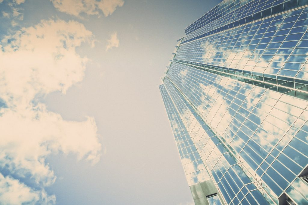 skyscraper and the sky