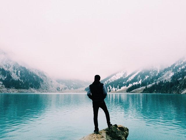 Person standing alone