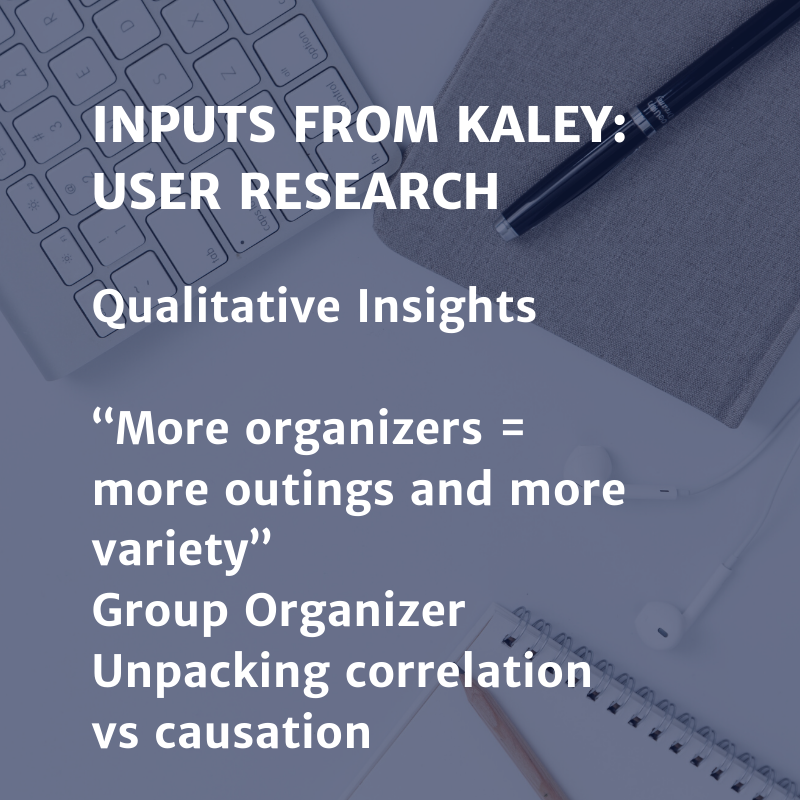 Inputs from Kaley: User Research