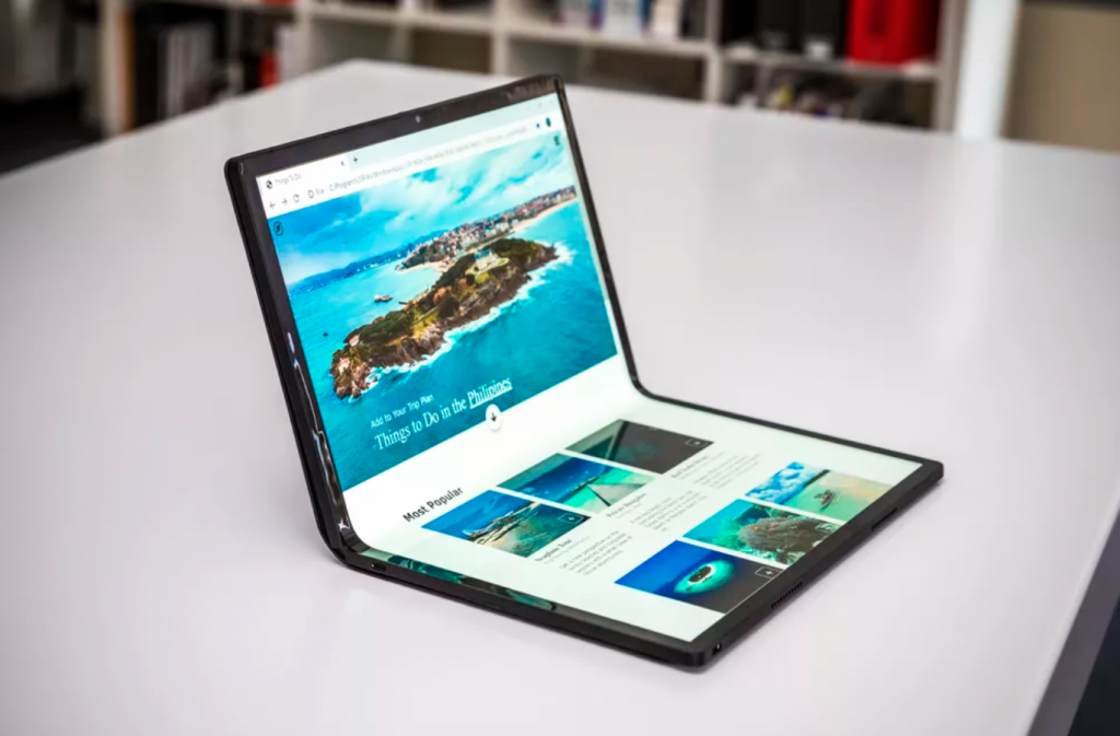 Intel foldable laptop
