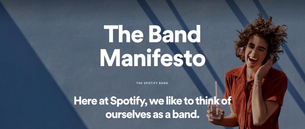Spotify band manifesto