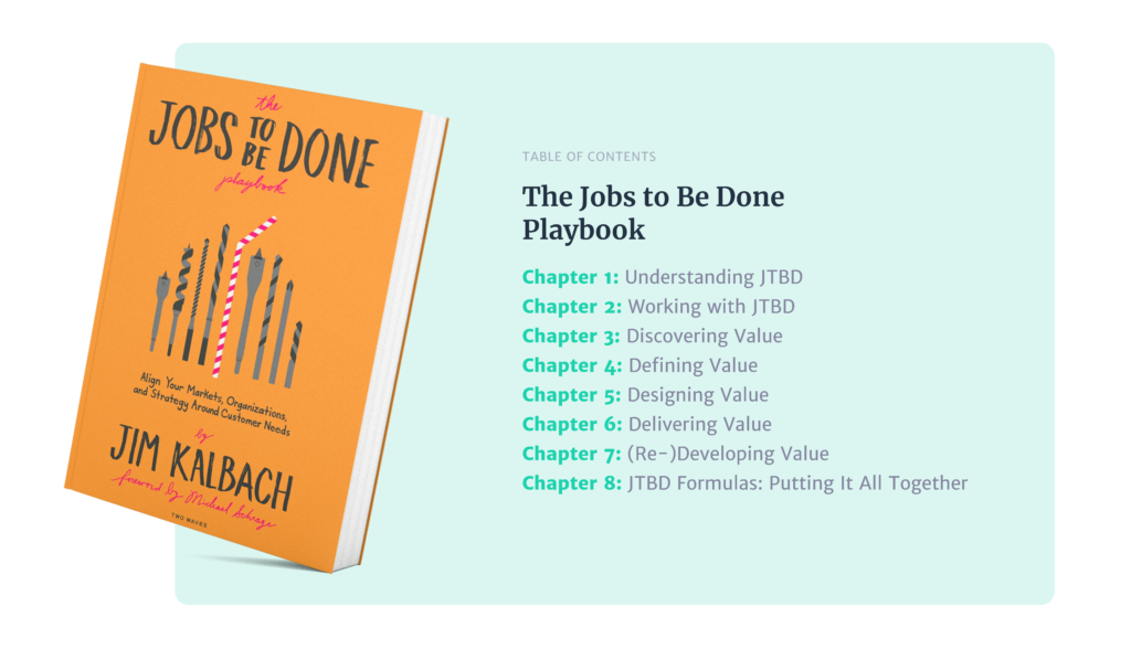Jobs to be done playbook table of contents
