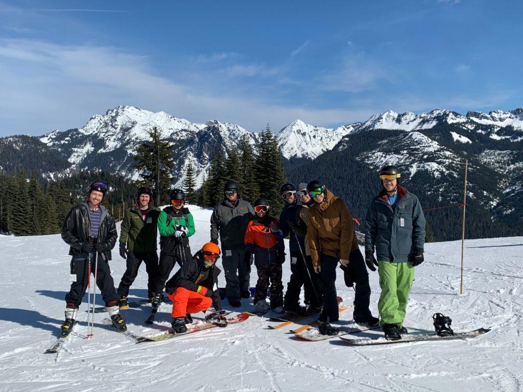 Zillow's team ski trip