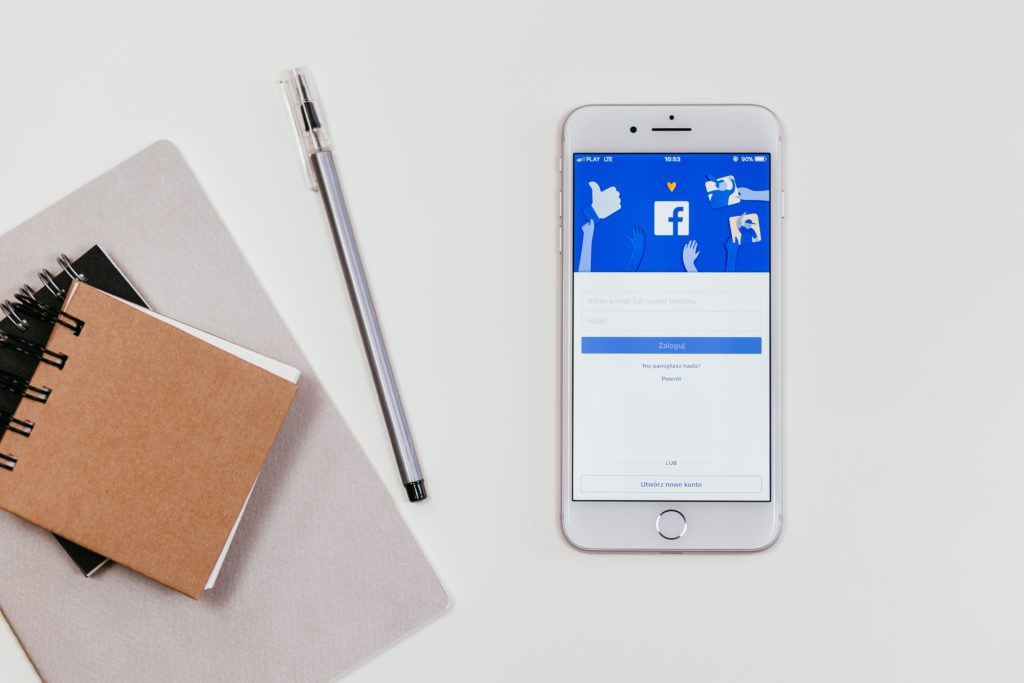 iphone with facebook app