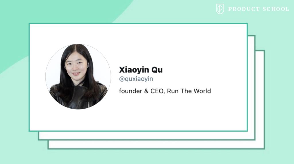 Xiaoyin Qu CEO run the World