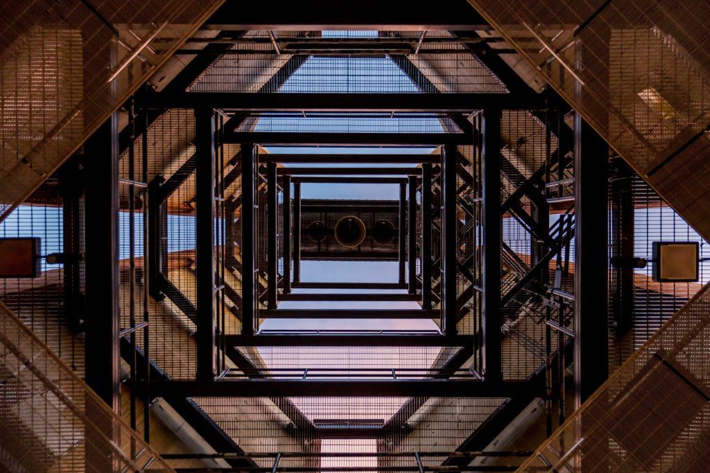 building frame looked from bellow
