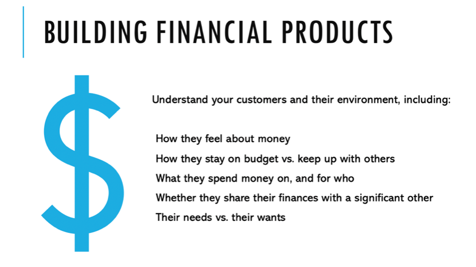 Building financial products