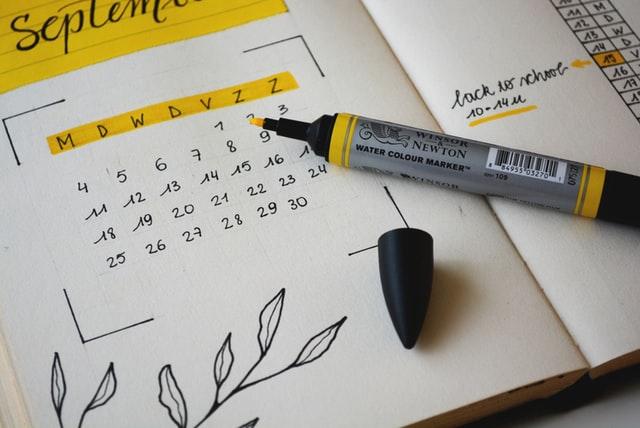 organizing calendar