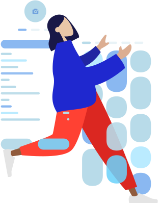Woman with a wireframe