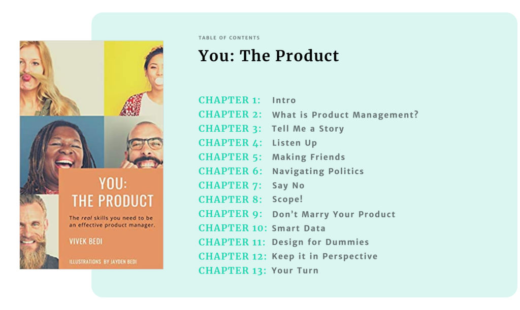 You: The Product Table of Contents