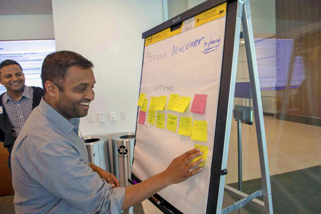 Vivek Bedi whiteboarding