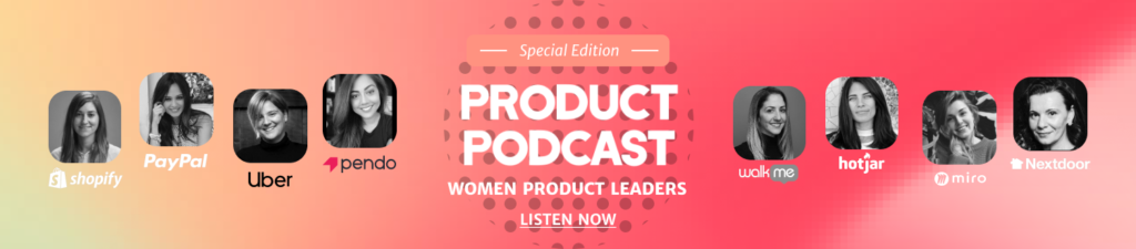 Women Product Leaders Podcast banner
