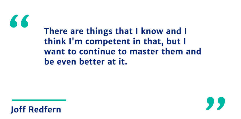 Joff quote about key learning