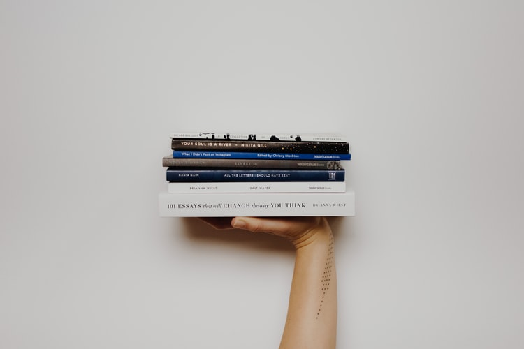 hand-full of books, product