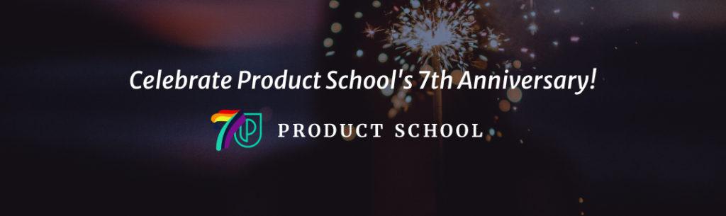 Product School anniversary banner