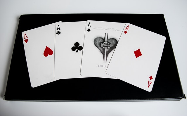 Four aces from a deck of cards