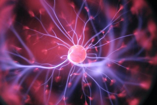 visualization of a neuron in the brain