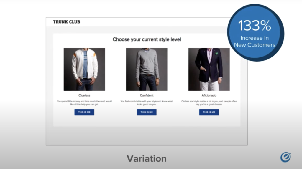 showing a 133% in new customers for the varied form